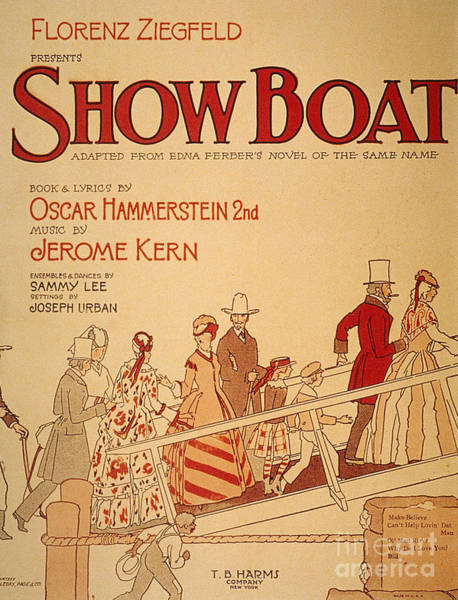 Painting - Show Boat Poster, 1927 by Granger