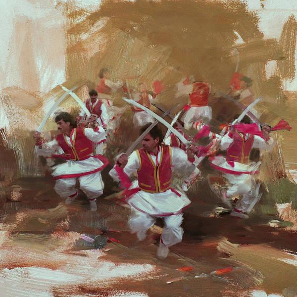 Maryam Wall Art - Painting - 006 Pakhtun by Maryam Mughal