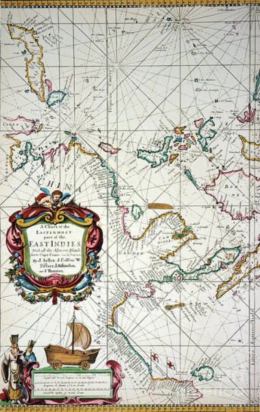 Painting - East Indies Map, 1670 by Granger