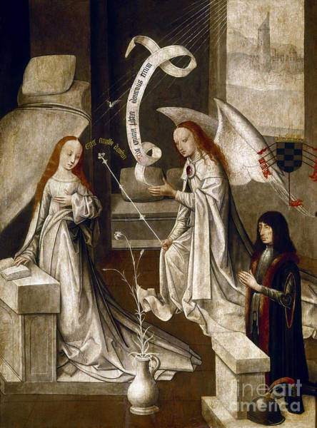 Painting - Spain: Annunciation, C1500 by Granger