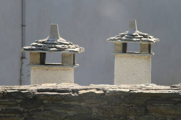 Chimnies Photograph - 0116733 - Greece - Pilio, Portaria by Costas Aggelakis