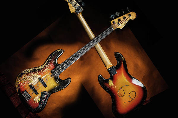 Photograph - 01.1834 011.1834c Jazz Bass 1969 Old 69 by M K Miller
