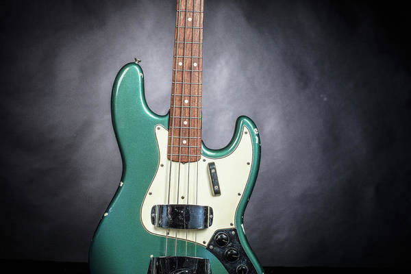 Photograph - 020.1834 Fender 1965 Jazz Bass Color by M K Miller