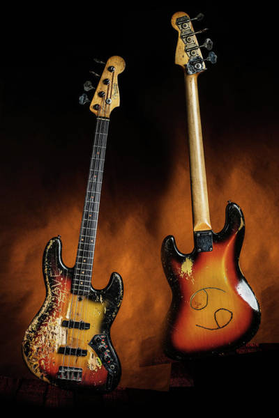 Photograph - 02.1834 011.1834c Jazz Bass 1969 Old 69 by M K Miller