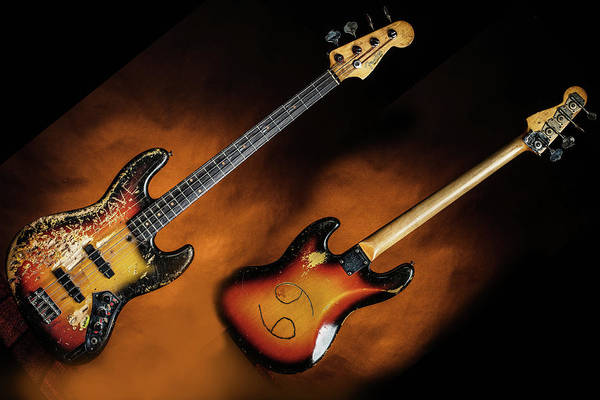 Photograph - 03.1834 011.1834c Jazz Bass 1969 Old 69 by M K Miller