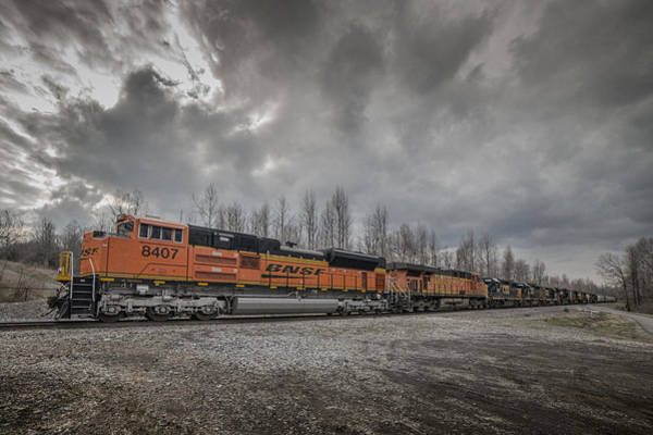 Subdivision Photograph - 03.27.15 Csx Q597-25 With 10 Engines At Madisonville Ky by Jim Pearson