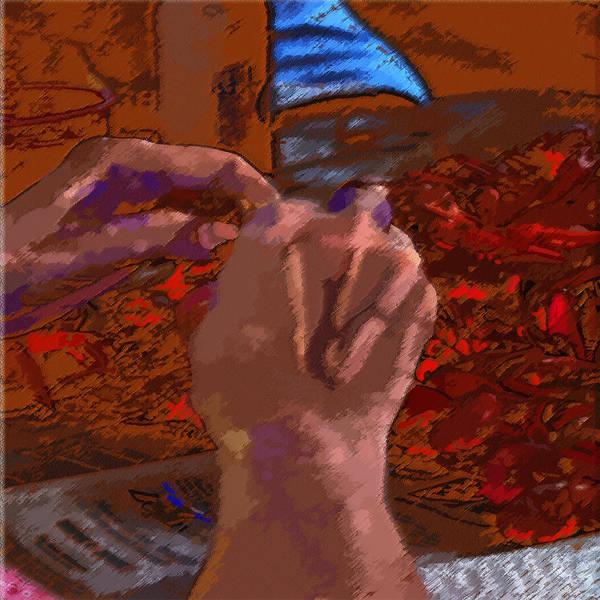 Digital Art - 04212015 Pealing Mud Bugs by Garland Oldham