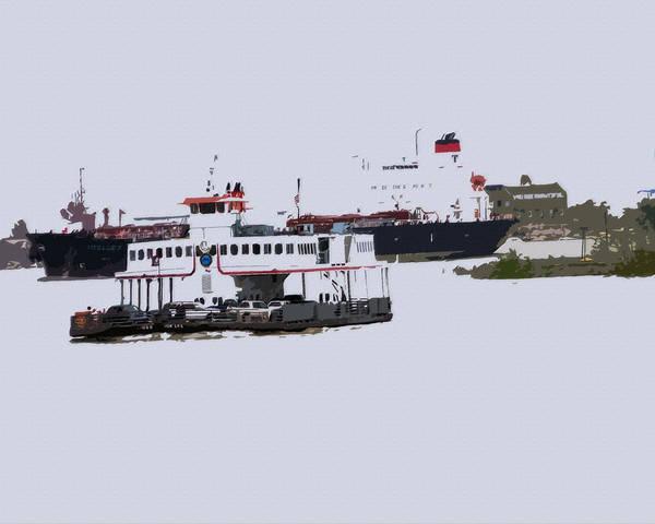 Digital Art - 04262015 Algiers Ferry by Garland Oldham
