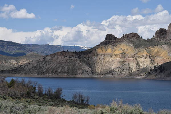 Photograph - Blue Mesa Lake Gunnison Co by Margarethe Binkley