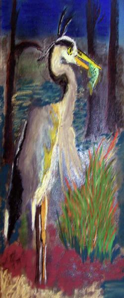 Digital Art - 052916 Blue Heron by Garland Oldham