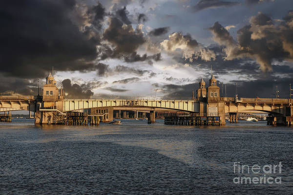 Photograph - Ashley River Memorial Bridge by Dale Powell
