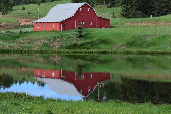 Photograph - Red Barn Burgess Res Divide Co by Margarethe Binkley