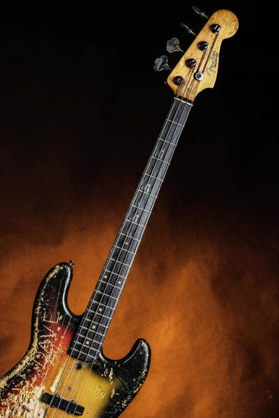 Photograph - 06.1834 011.1834c Jazz Bass 1969 Old 69 by M K Miller
