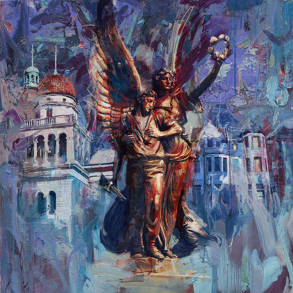 Maryam Wall Art - Painting - 064 Spirit Of The Confederacy Monument by Maryam Mughal