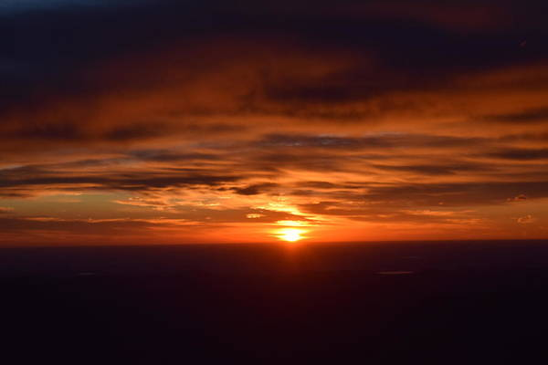 Photograph - Sunrise Over Denver From Mount Evans  by Margarethe Binkley