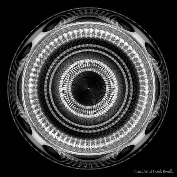 Digital Art - #091520151 Black And White Version by Visual Artist Frank Bonilla