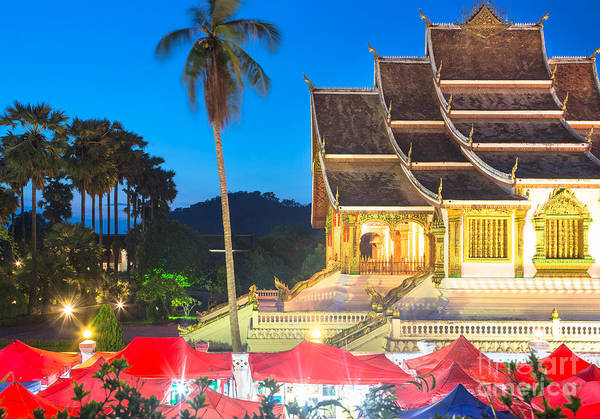Photograph -  Famous Night Market In Luang Prabang by Didier Marti