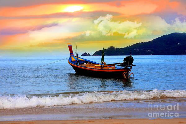 Work Boat Photograph -  Thailand by Mark Ashkenazi