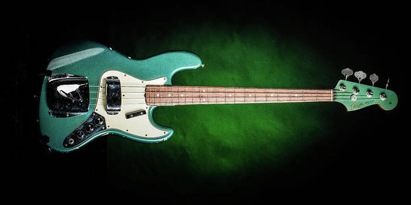 Photograph - 005.1834 Fender 1965 Jazz Bass Color by M K Miller