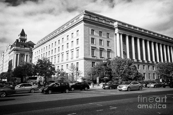 Federal Triangle Wall Art - Photograph - 1111 Constitution Avenue Us Department Of The Treasury And Internal Revenue Service Building Washing by Joe Fox