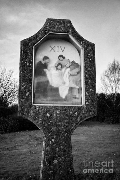 Wall Art - Photograph - 14th Station Of The Cross St Brigids Shrine County Louth Republic Of Ireland by Joe Fox