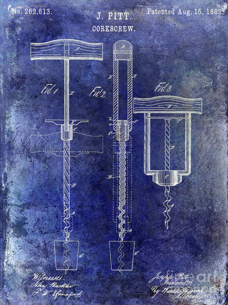 Wall Art - Photograph - 1882 Corkscrew Patent by Jon Neidert