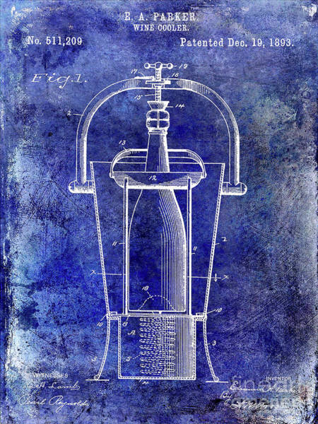 Wall Art - Photograph - 1893 Wine Cooler Patent by Jon Neidert