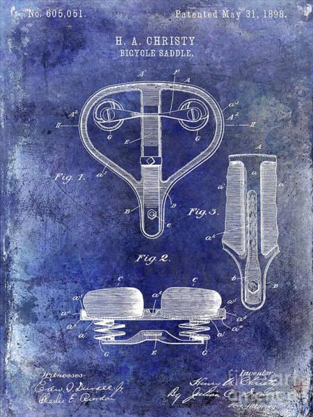 1899 Photograph - 1898 Bicycle Saddle Patent by Jon Neidert