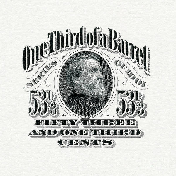 Wall Art - Photograph - 1901 One Third Beer Barrel Tax Stamp by Jon Neidert