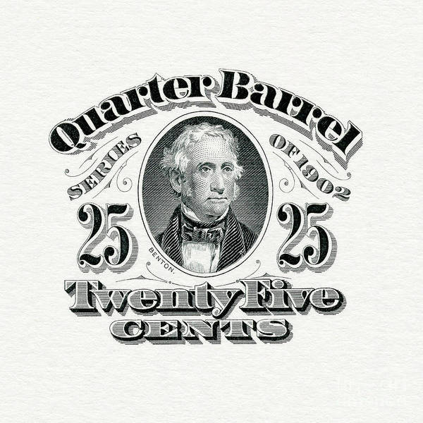 Wall Art - Photograph - 1902 Quarter Beer Barrel Tax Stamp by Jon Neidert