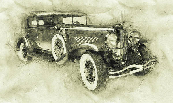 Four Wheeler Mixed Media - 1928 Duesenberg Model J 3 - Automotive Art - Car Posters by Studio Grafiikka