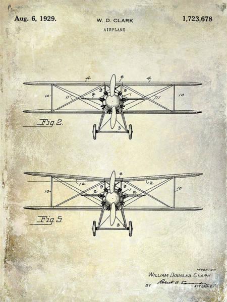 1929 Photograph - 1929 Airplane Patent  by Jon Neidert