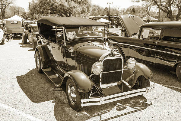 Photograph - 1929 Ford Phaeton Classic Antique Car At Show In Sepia  3503.01 by M K Miller