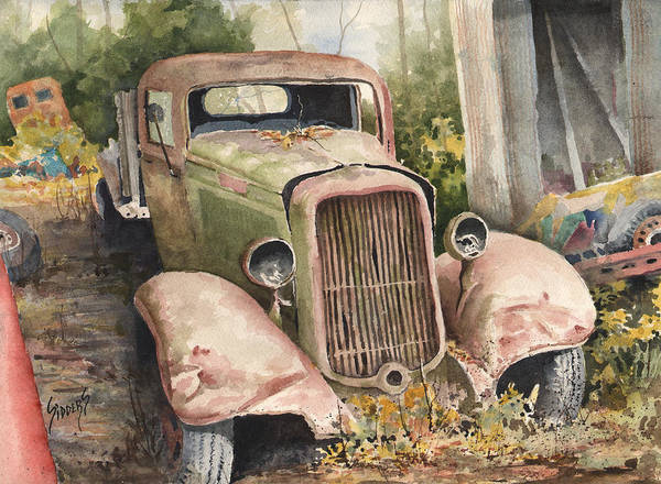 Painting - 1934 Dodge Half-ton by Sam Sidders