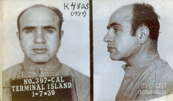 Wall Art - Photograph - 1939 Al Capone Mugshot by Jon Neidert