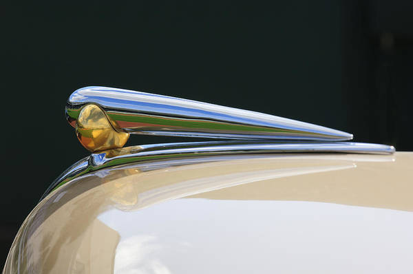 Photograph - 1941 Lincoln Continental Hood Ornament 2 by Jill Reger
