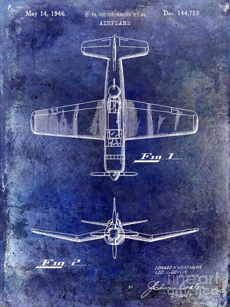 Jet Fighter Photograph - 1946 Airplane Patent by Jon Neidert