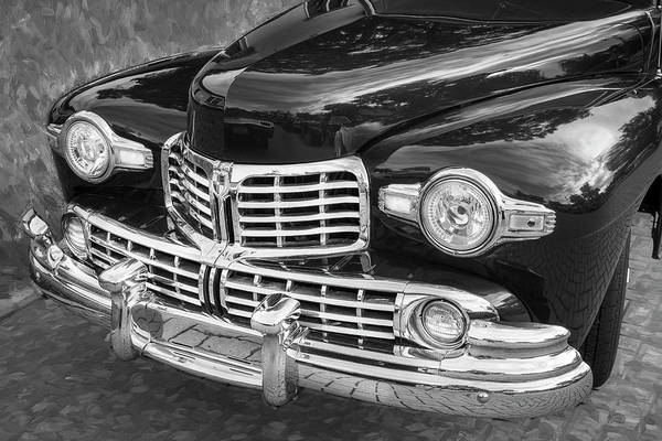 Wall Art - Photograph - 1947 Lincoln Continental Bw by Rich Franco