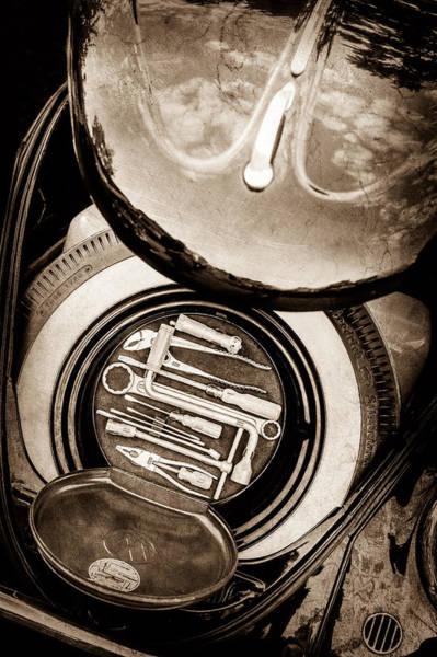Photograph - 1949 Volkswagen Vw Hebmuller Cabriolet Tool Kit -0278s by Jill Reger