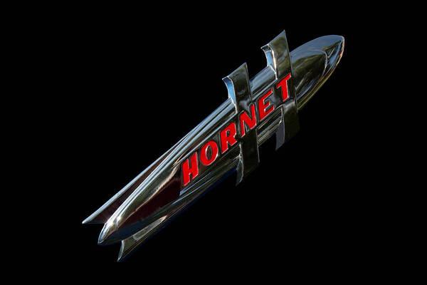 1952 Hudson Hornet Photograph - 1952 Hudson Hornet Emblem by Nick Gray