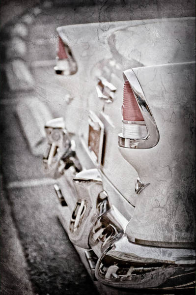 Wall Art - Photograph - 1955 Chevrolet Belair Taillights -0096ac by Jill Reger