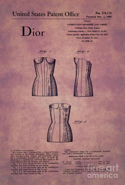 Dior Digital Art - 1955 Dior Combo Bra And Corset Design 1 by Nishanth Gopinathan