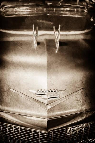 Eldorado Photograph - 1956 Cadillac Eldorado Biarritz Convertible Hood Ornament - Emblem by Jill Reger