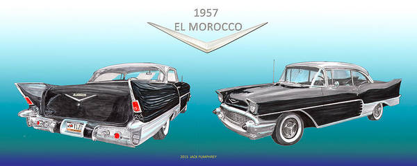 Wall Art - Painting - 1957 Chevrolet El Morocco Hard Top by Jack Pumphrey