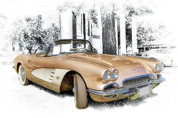 Photograph - 1961 Corvette Convertible by Susan Rissi Tregoning