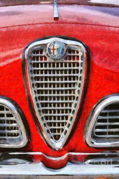 Alfa Romeo Painting - 1962 Alfa Romeo Giulia 101 Sprint by George Atsametakis