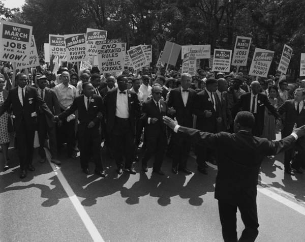 Wall Art - Photograph - 1963 March On Washington. Famous Civil by Everett