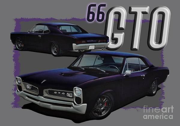 Xxx Digital Art - 1966 Pontiac Gto by Paul Kuras