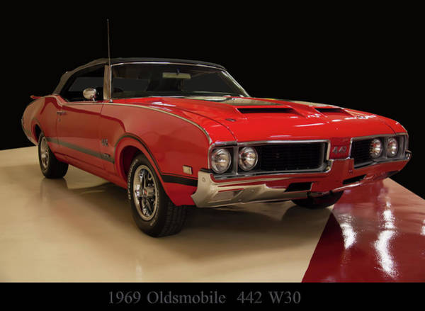 Photograph - 1969 Oldsmobile 442 W 30 by Chris Flees