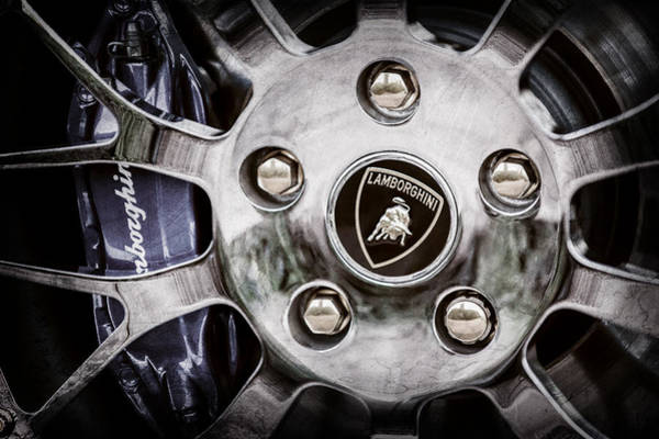 Wall Art - Photograph - 1997 Lamborghini Diablo Roadster  Wheel Emblem -1303ac by Jill Reger
